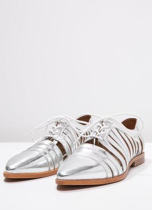 Туфли на шнурках кожа