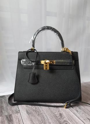 Кожаная сумка в стилe hermes kelly гермес келли