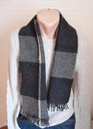 ⛄⛄100% shetland натуральная шерсть теплый мужской шарф с бахромой⛄⛄3 фото