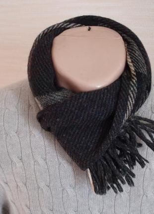 ⛄⛄100% shetland натуральная шерсть теплый мужской шарф с бахромой⛄⛄4 фото