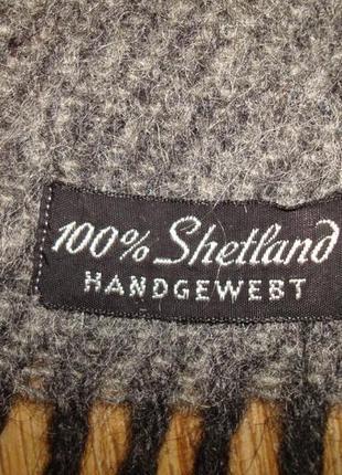 ⛄⛄100% shetland натуральная шерсть теплый мужской шарф с бахромой⛄⛄7 фото