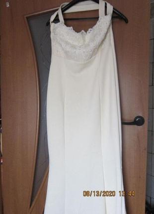 Новое роскошное платье цвета айвори!!