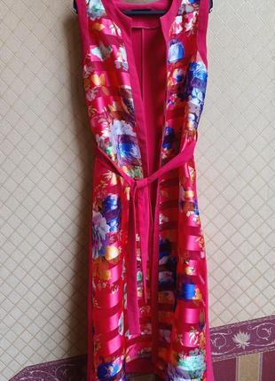 Дизайнерская пляжная накидка-халат размер m