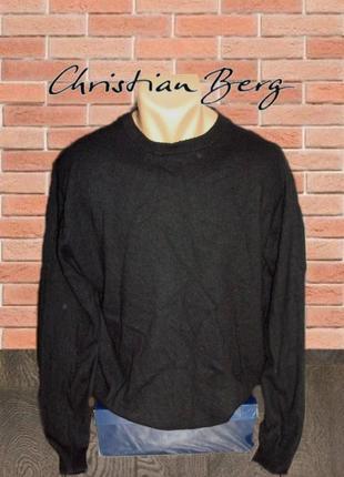 🌲🌲christian berg кашемир шерсть стильный теплый мужской свитер черный l/xl 🌲🌲🌲
