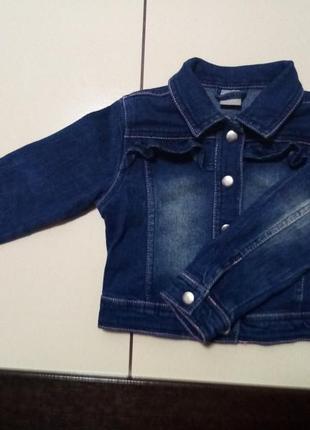 Джинсовая куртка kiki& koko на 2-3 года