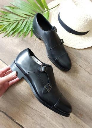 Мужские кожаные туфли zara man,испания