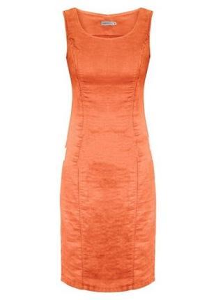 Платье льняное оранжевое ярослав размер 46