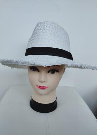 Соломенная шляпа,  белая шляпка primark унисекс one size
