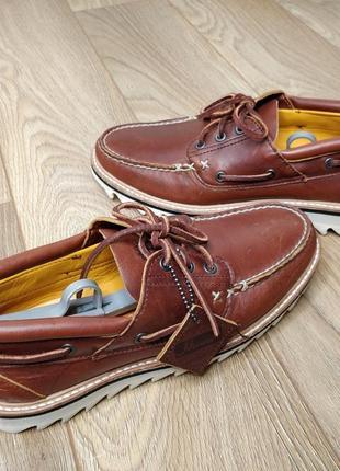 Премиальные топсайдеры timberland horween leather vibram sole