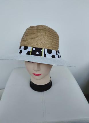 Соломенная шляпа, плетеная шляпка унисекс primark one size