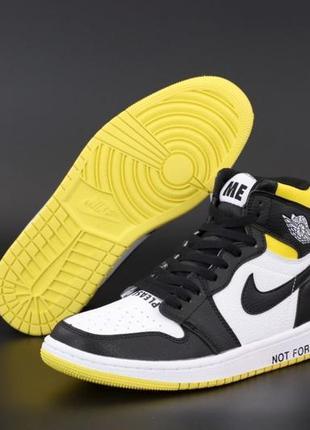 Легкие спортивные кроссовки кеды высокие nike air jordan кожаные белые найк