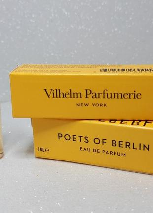 Vilhelm parfumerie poets of berlin парфюмированная вода (пробник)1 фото