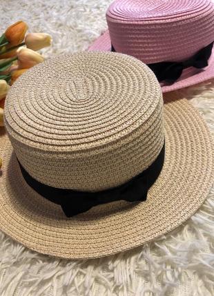 Летняя шляпа канотье конотье