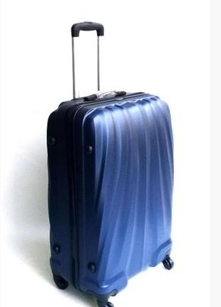 Чемодан четырехколесный пластиковый с выдвижной ручкой, davinci, италия, большой