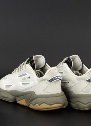 Легкие мужские спортивные кроссовки кеды adidas ozweego3 фото