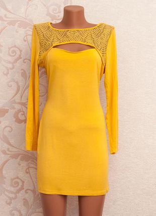 Огромный выбор платьев - красивое платье с кружевом на груди и на спинке длинный рукав