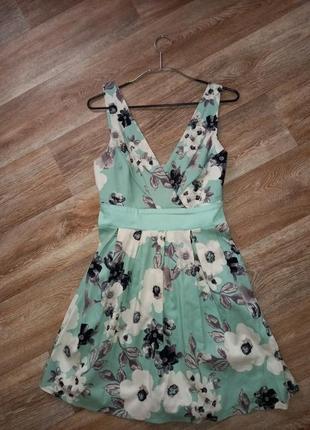 Хлопковое платье / сарафан asos apricot цветы/ цветочный принт