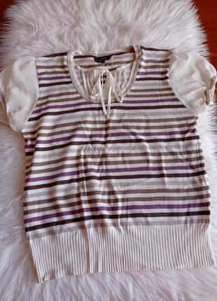 Блуза, футболка с рукавом фонарик