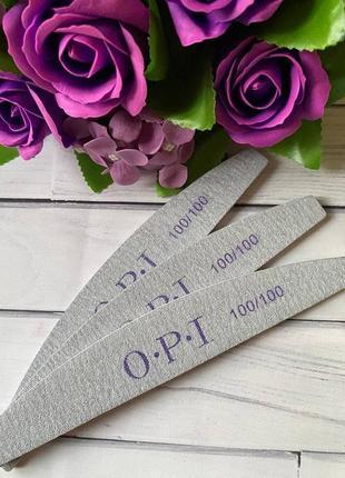 Пилка, пилочка для ногтей opi 100/1002 фото