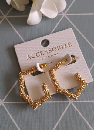 Геометричні сережки, серьги структурние от accessorize с сайта asos
