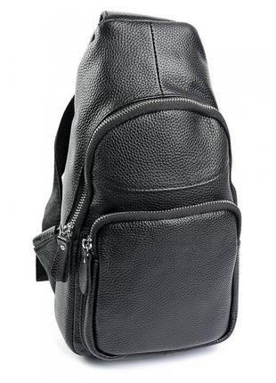 Мужская кожаная сумка чоловіча шкіряна из натуральної шкіри сумочка на плечо бананка
