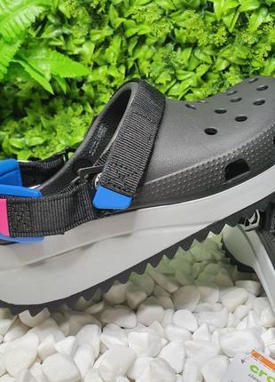 Кроксы crocs черные сабо crocs classic hiker clog