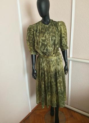 Натуральный летний костюм блуза и юбка в цветочный принт