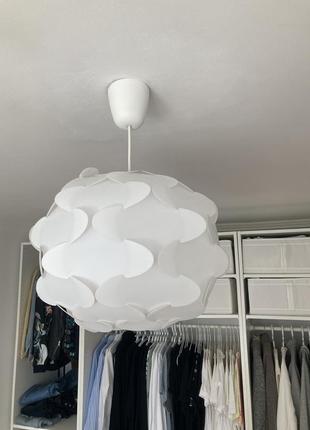 Підвісна лампа стельова ikea fillsta біла пластик