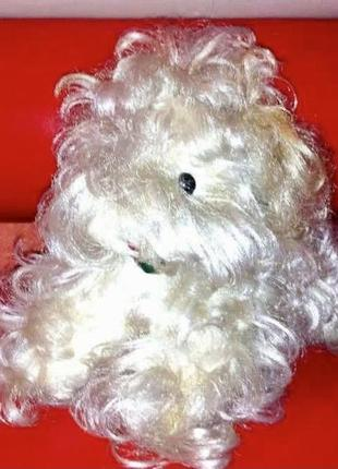 Германия . красивая интерьерная игрушка собачка-балонка .  качество гдр ! кукла.