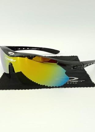 Очки тактические, солнцезащитные с поляризацией, 5 линз в комплекте (oakley-5glass)