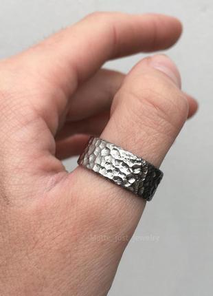 Кольцо из титана moon, унисекс кольцо