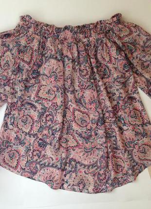 Топ/блуза/кофта с открытыми плечами bershka
