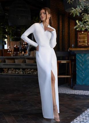 Белое платье в пол (свадебное и не только)
