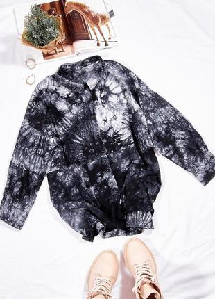 Черная рубашка tie-dye