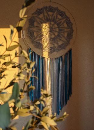 Ловец снов, кружевной ловец снов, декор на стену, декор для дома, декор детской