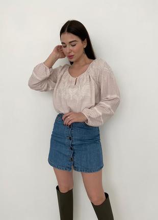 Блуза вышиванка mint velvet