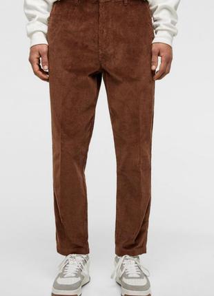 Стильные  зауженные штаны  мом zara.вельвет!