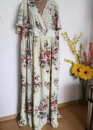 Женское платье rosegal, длинное  платье с цветочным принтом на лето