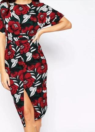 Красивейшее платье в маки asos
