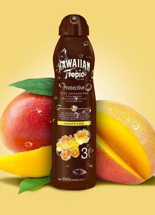 Сухое масло-спрей для загара hawaiian tropic protective