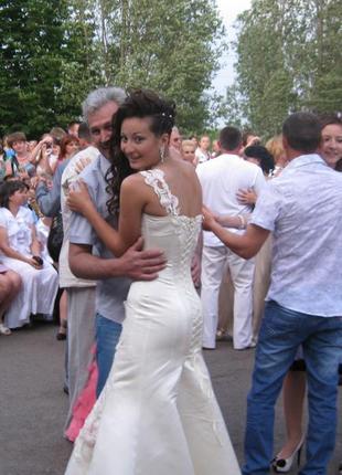 Свадебное платье, выпускное платье, атласное платье