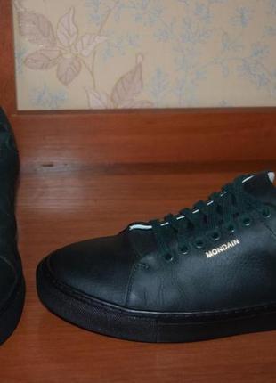 Стильные, кожаные,изумрудные туфли на шнурках mondain