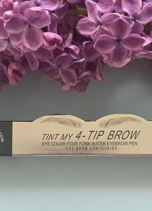 Стійкий маркер для брівз ефектом мікроблейдингу etude house tint my 4-tip brow