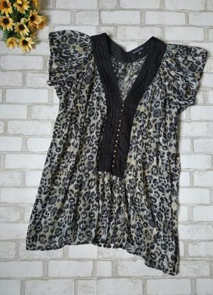 Блузка туника женская atmosphere шифон леопард батал
