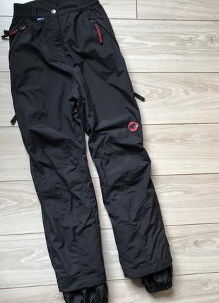 Лыжные треккинговые штаны mammut dry tech xs  высокая посадка