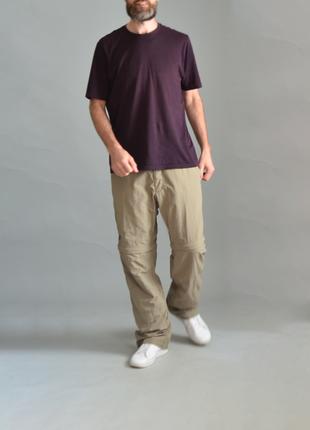 5024\80 тонкие бежево-серые брюки jack wolfskin xxl