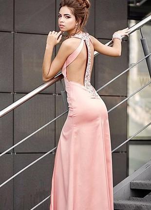 Шикарное выпускное вечернее платье с камнями сваровски