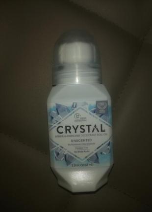 Натуральный шариковый дезодорант crystal без запаха кристал унисекс