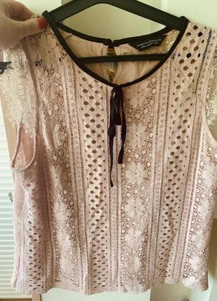 Кружевная блуза р.16