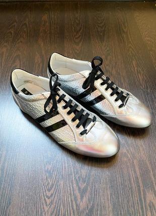 Туфли мужские нарядные серебрянные серые металлик richmond
